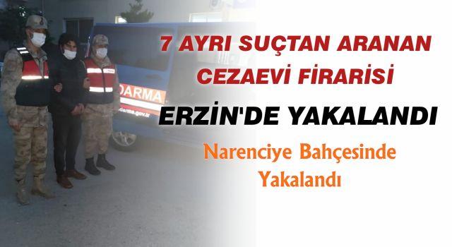 Cezaevi Firarisi Erzin'de Yakalandı