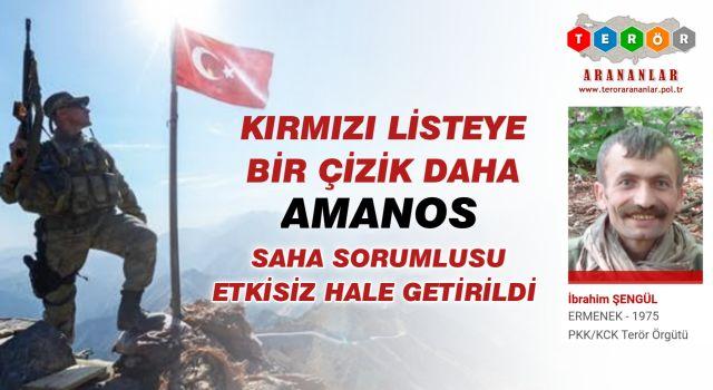 PKK'nın Amanos saha sorumlusu etkisiz hale getirildi