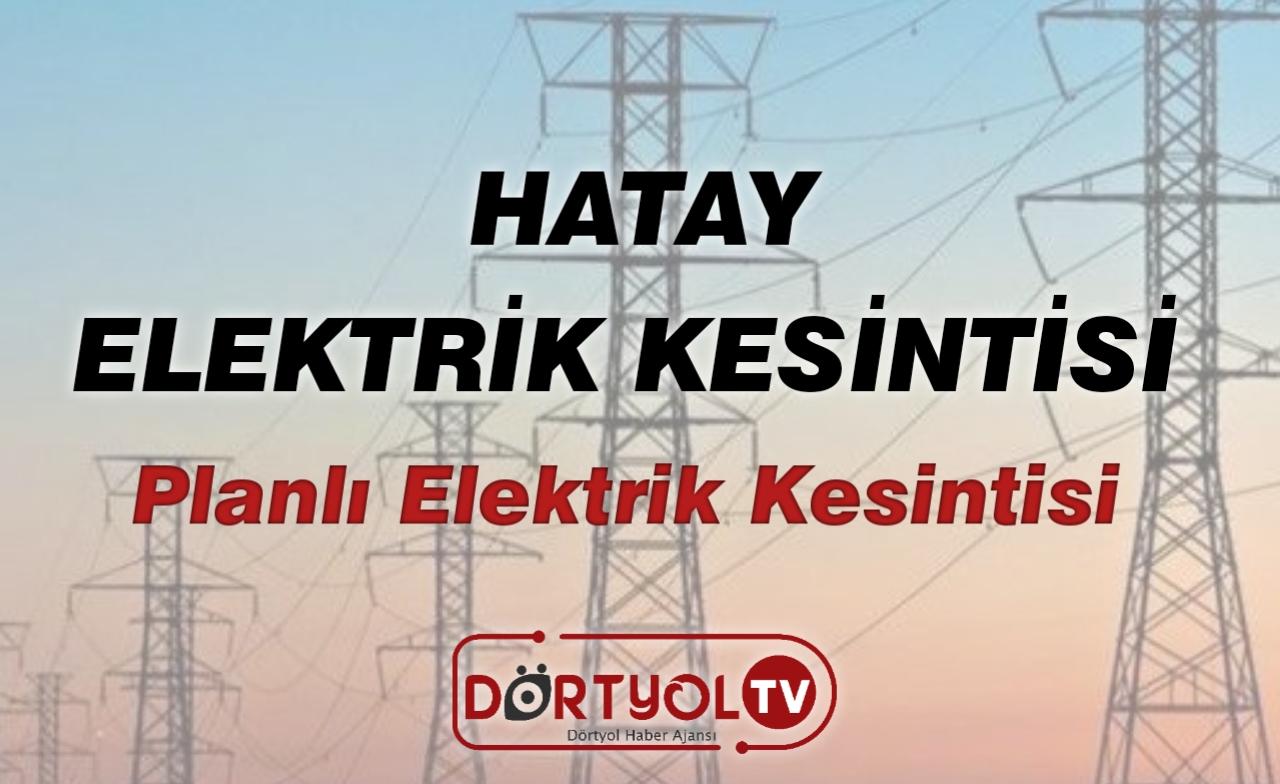 Hatay'da Elektrik Kesintisi