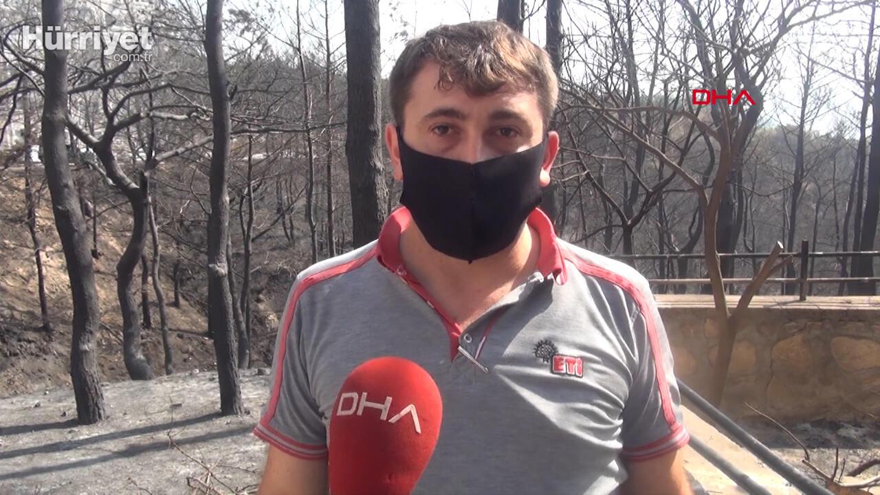 Hatay'daki yangından çocuklarını alıp kaçan baba: Taksim'de yürüyen ünlülerin sesi çıkmadı