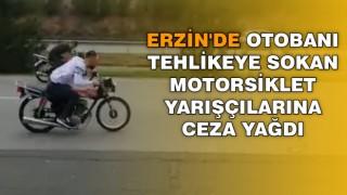 Erzin'de Otoyolda Motosiklet Yarışçılarına Ceza Yağdı