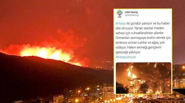 Yangınları PKK üstlenince HDP sessizliğe gömüldü