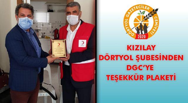 KIZILAY DÖRTYOL ŞUBESİNDEN DGC'YE TEŞEKKÜR PLAKETİ