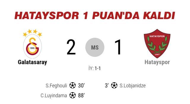 Galatasaray: 2 - Hatayspor: 1 | MAÇ SONUCU