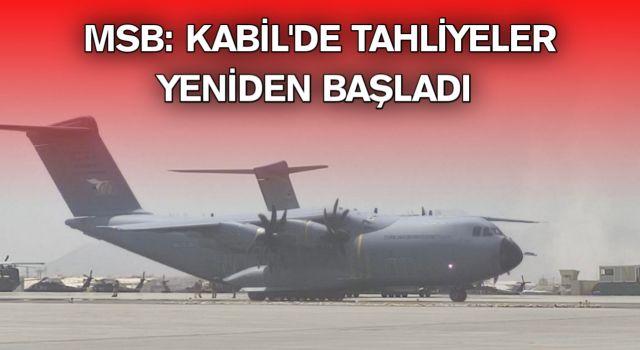 MSB: Kabil'de tahliyeler yeniden başladı