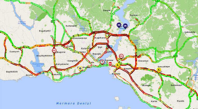 Son dakika... İstanbul'da trafik felç