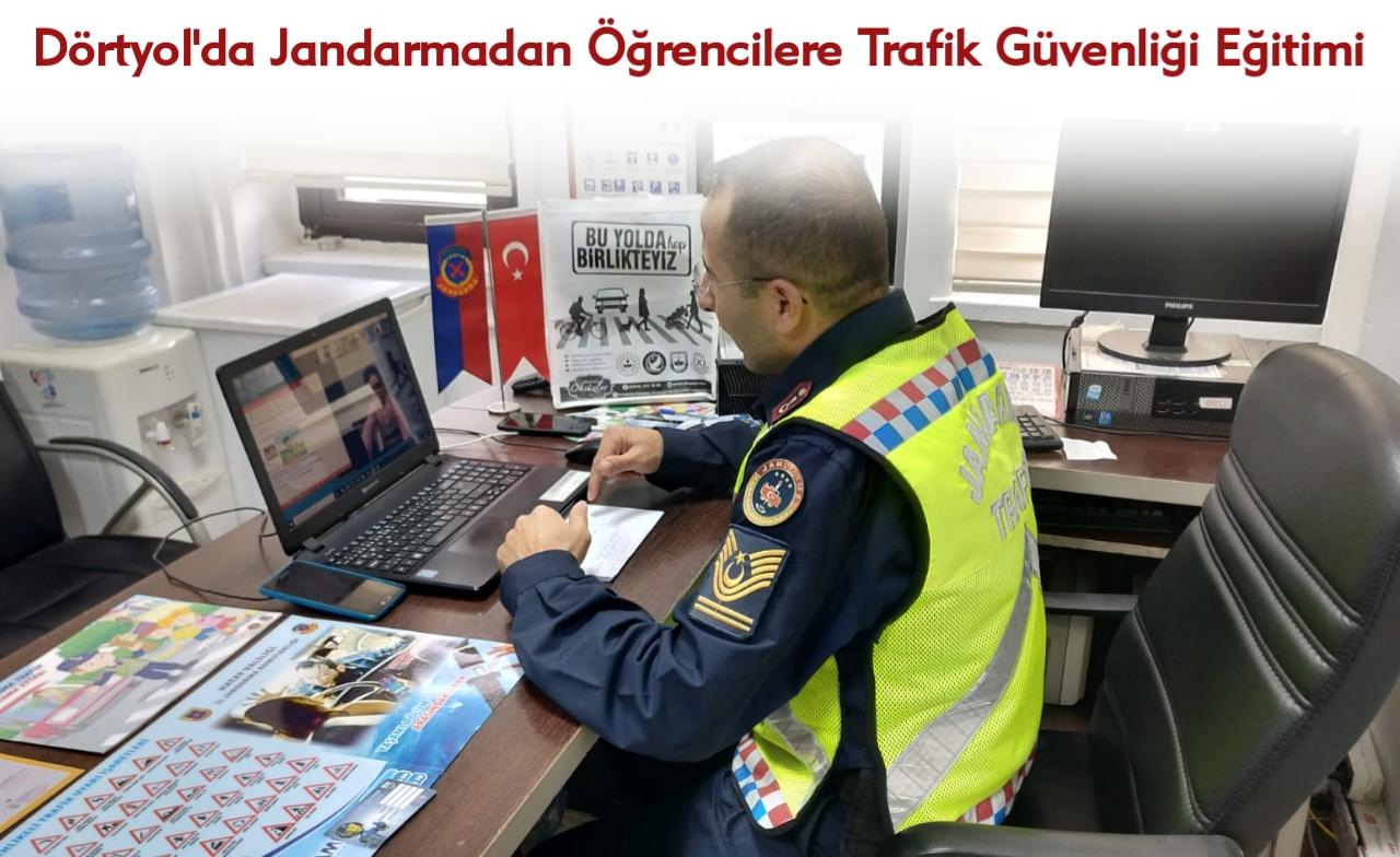 Dörtyol'da Jandarmadan Öğrencilere Trafik Güvenliği Eğitimi