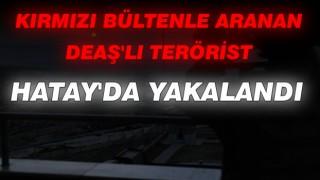 Kırmızı Bültenle Aranan DEAŞ'lı Terörist Hatay' da Yakalandı
