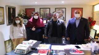 Saadet Partisi Hatay İl Kadın Kolları Başkanı Ceren Seda Çiçek'ten Dörtyol Gazeteciler Cemiyetini ziyaret
