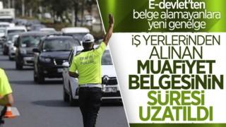 Çalışma İzni Görev Belgesi formunun geçerlilik süresi 12 Mayıs'a kadar uzatıldı