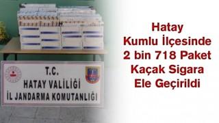 Kumlu ilçesinde 2 bin 718 paket kaçak sigara ele geçirildi.