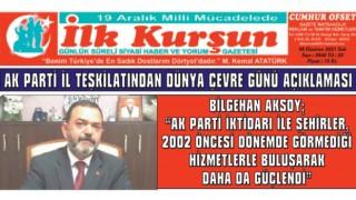 """BİLGEHAN AKSOY; """"AK PARTİ İKTİDARI İLE ŞEHİRLER, 2002 ÖNCESİ DÖNEMDE GÖRMEDİĞİ HİZMETLERLE BULUŞARAK DAHA DA GÜÇLENDİ"""""""