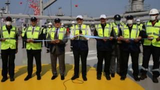 Türkiye'nin ilk doğal gaz depolama gemisi Ertuğrul Gazi hizmete girdi