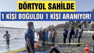 Denize giren iki arkadaş akıntıya kapıldı 1 kişi boğuldu 1 kişi aranıyor