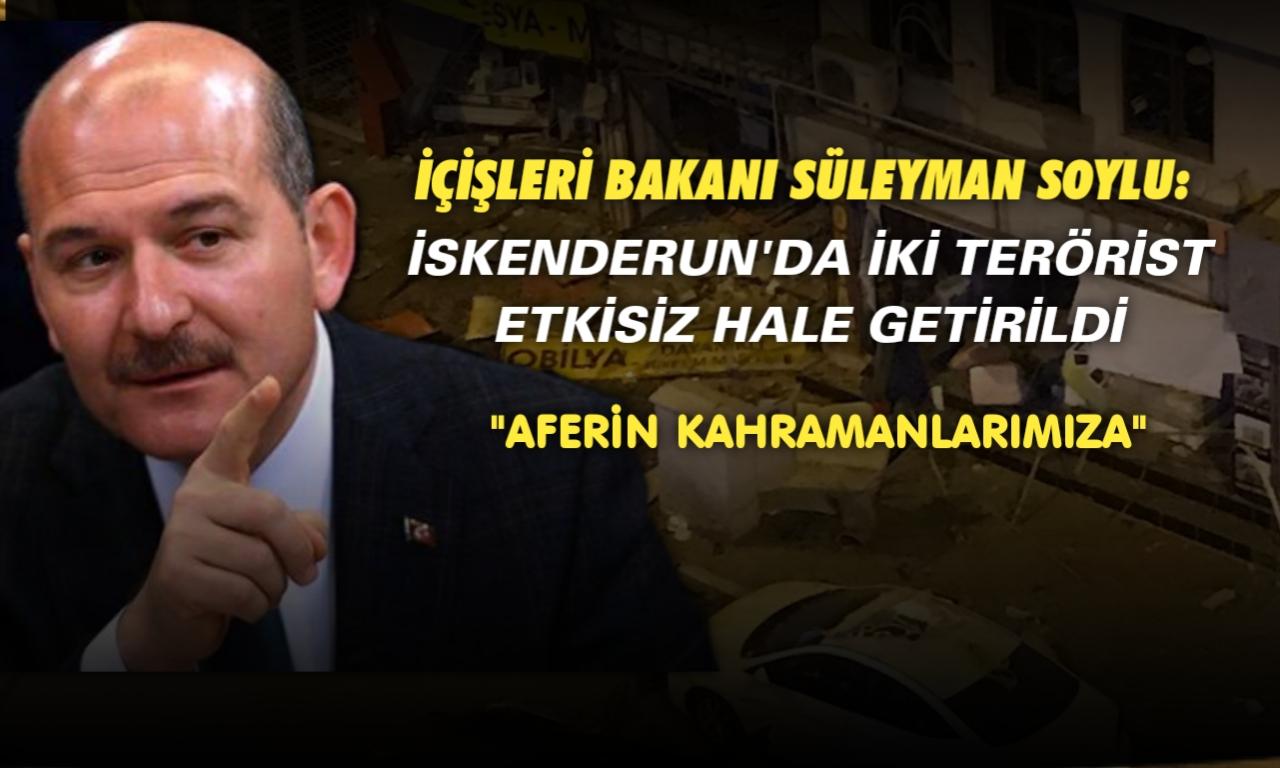 İçişleri Bakanı Süleyman Soylu: İki terörist etkisiz hale getirildi